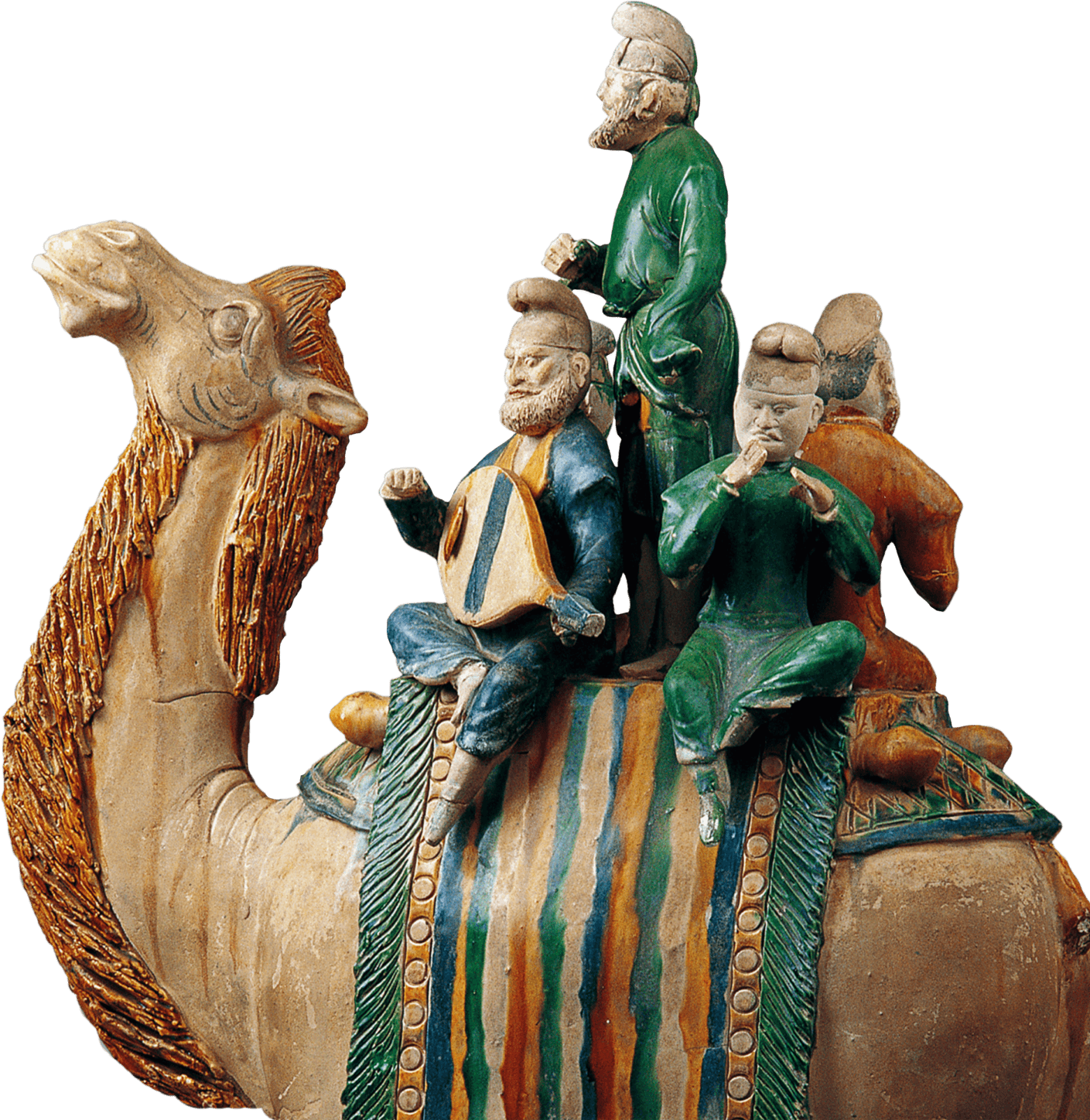 Tomb Figure of a Camel with Musicians