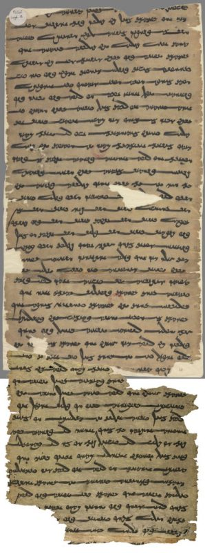 Large rectangular paper with Sogdian writing