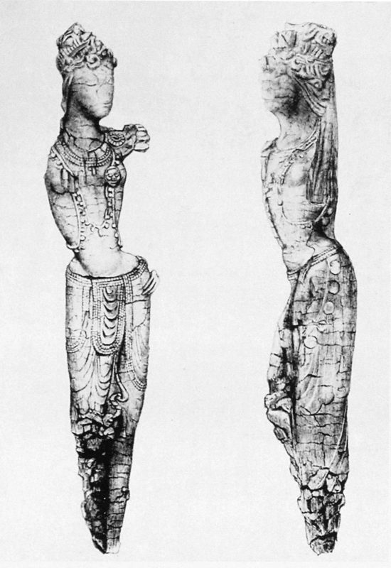 Drawing of female deity without arms