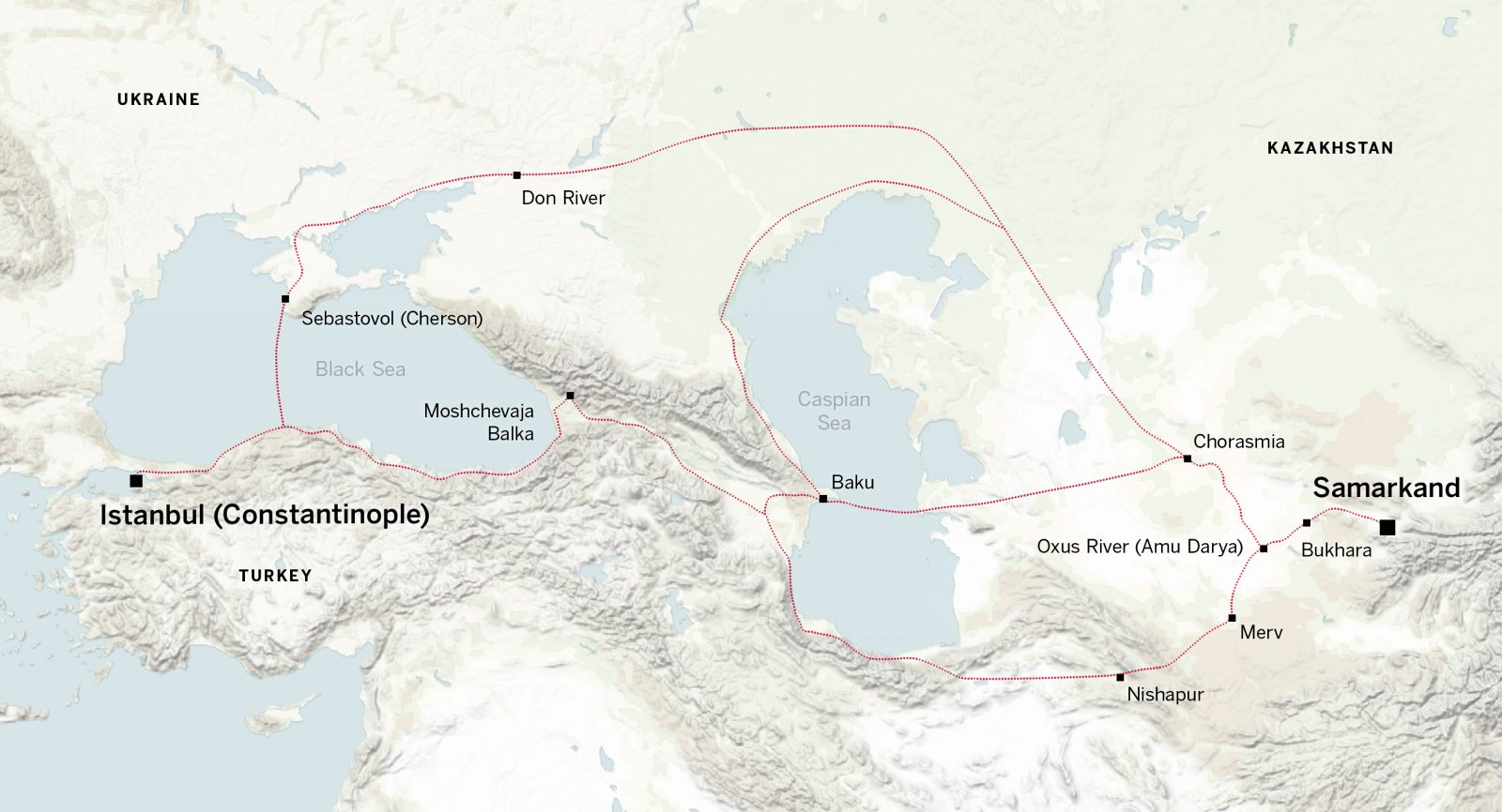 The Sogdians tried avoid Sasanian Iran by using less straightforward routes to Constantinople