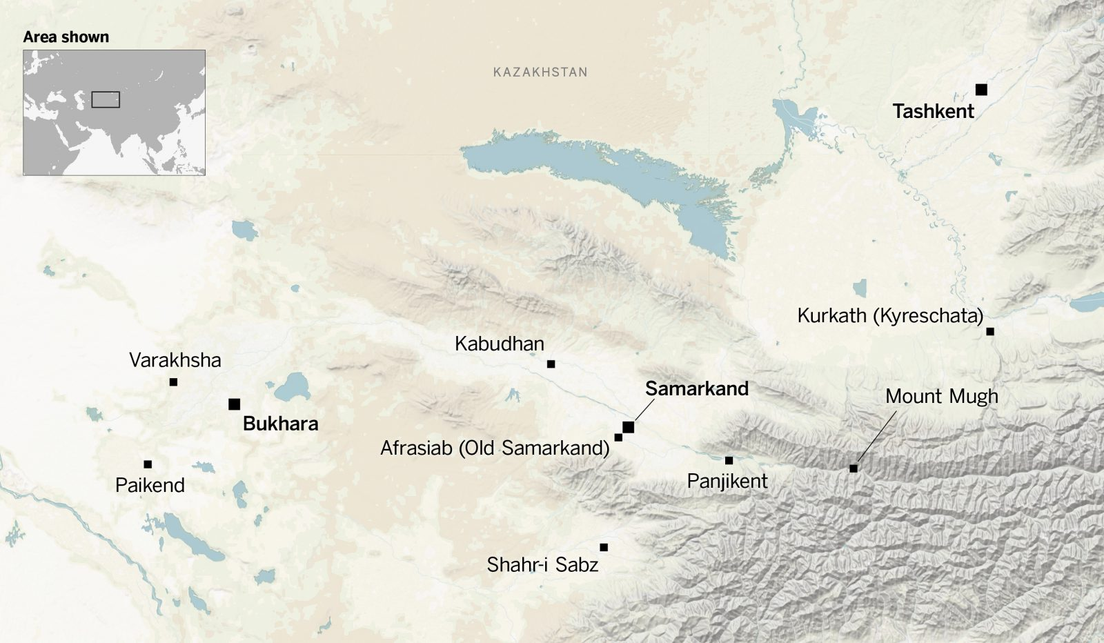 Sogdian was spoken in Central Asia from Tashkent to Paikend