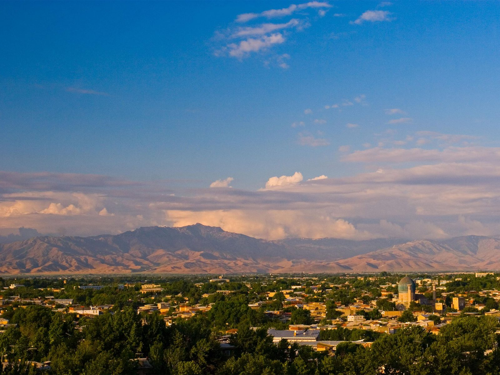View of Samarkand, Uzbekistan. Photograph © Michele Falzone / Alamy Stock Photo.