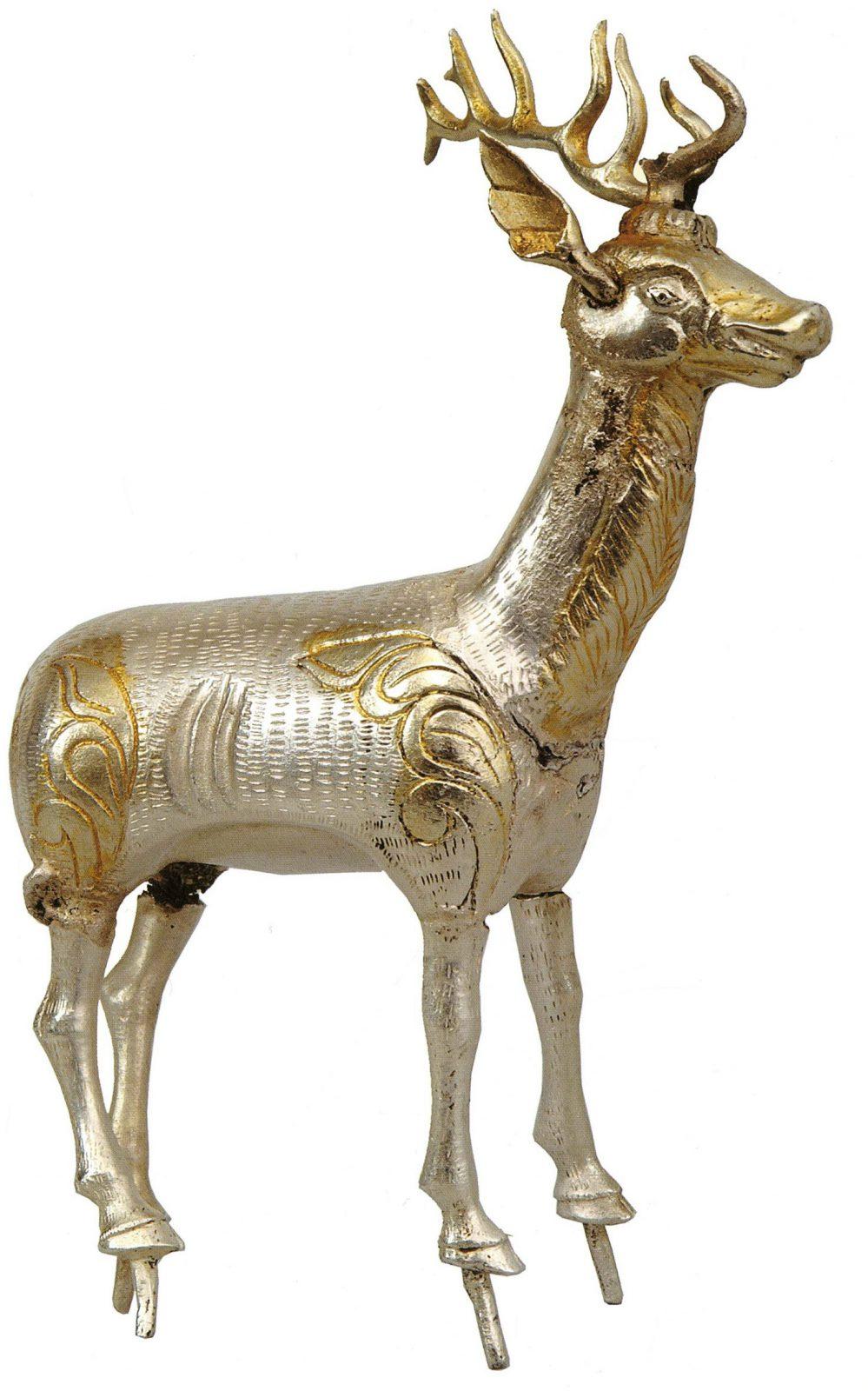 Deer statue with antlers
