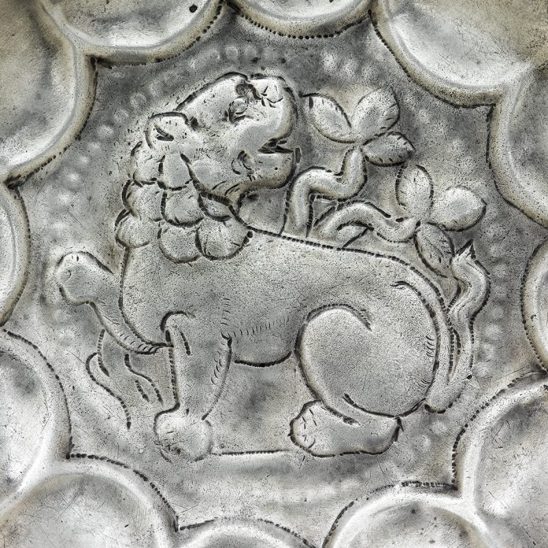 Lobed Bowl with Lion